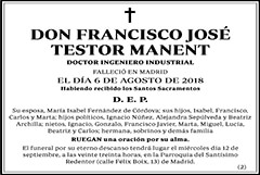 Francisco José Testor Manent